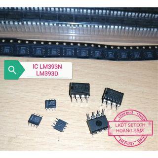 LM393 IC tương tự so sánh chân cắm, chân dán thumbnail