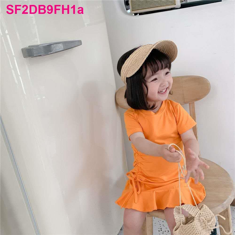 Quần áo trẻ em và em, vẻ đẹp mùa hè cho bé gái, váy đuôi cá dây rút kiểu  đại dương, thời trang mới năm 2020 đồ chính hãng 126,500đ