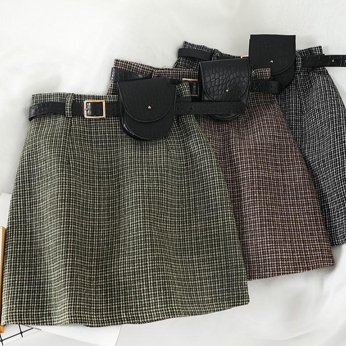 Chân váy chữ A, dáng ôm, kèm dây lưng, có ảnh thật - hàng order 7-10 ngày