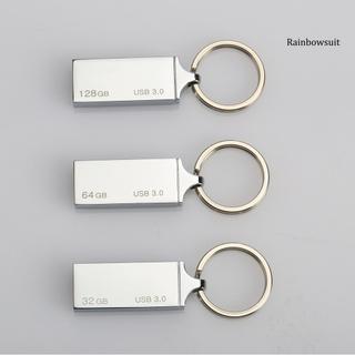 RB- K33 32GB 64GB 128GB Keychain USB Waterproof Stable Transmission USB3.0 Metal USB Flash Drive for Computer