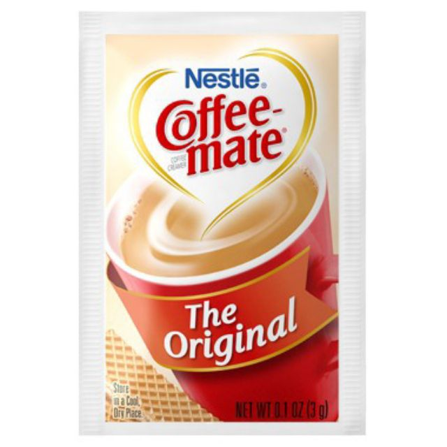 Bột kem sữa coffee mate 1 gói 8k Keto, das dùng pha với cacao, cafe