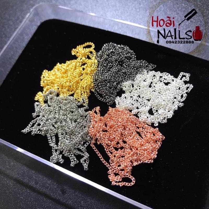Dây bi - dây xích làm nail ( sợi 1 mét, dày 1mm) - Phụ kiện Nail Giá Rẻ