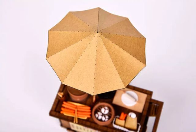 Mô hình nhà gỗ lắp ráp Dollhouse DIY - BM822 Dimsum Stall