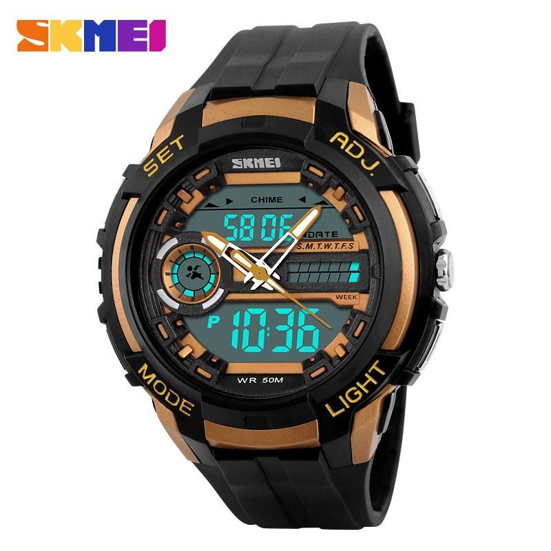 Đồng hồ thể thao nam Skmei 2 máy (vàng đen) - 9995423 , 304396255 , 322_304396255 , 300000 , Dong-ho-the-thao-nam-Skmei-2-may-vang-den-322_304396255 , shopee.vn , Đồng hồ thể thao nam Skmei 2 máy (vàng đen)