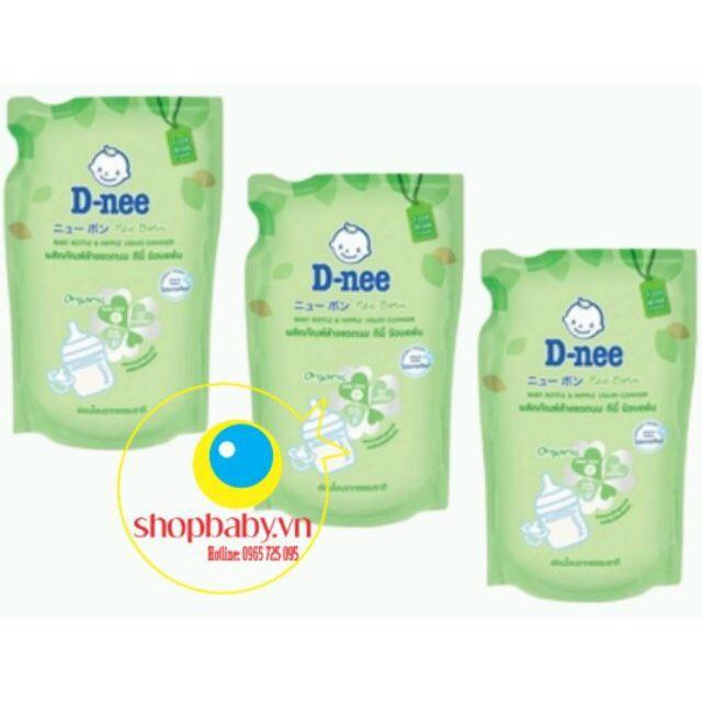 Combo 3 gói Nước rửa bình sữa và rau quả Dnee 600ml Thái Lan
