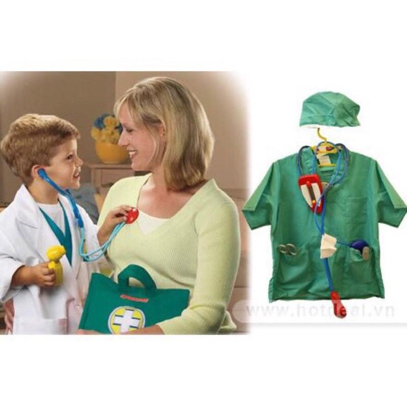 Đồ phi công có nón xuyên biên giới dành cho trẻ em – Đồ bác sĩ phẫu thuật