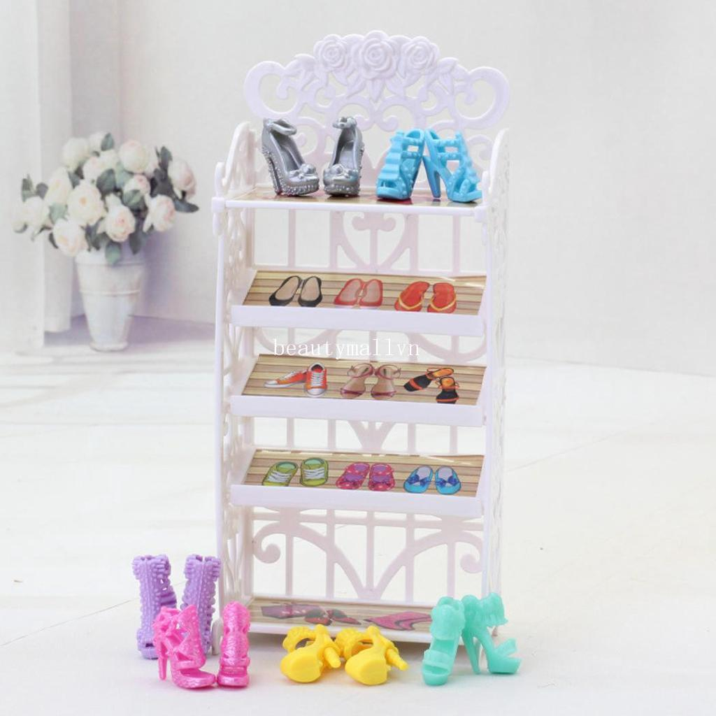 Girls Gift Doll Furniture Shoes Rack Playhouse Accessories