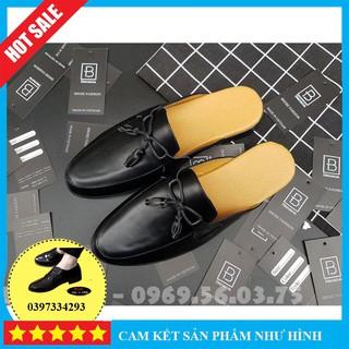 Sục nam cao cấp giá rẻ, Giày lười sục nam chuông đế cao su đúc chất liệu da bò pu phong cách trẻ trung - Mã SN01 thumbnail