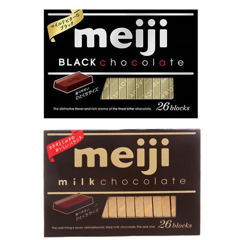 SOCOLA MEIJI BLACK/ MILK CHOCOLATE 26 THANH 120G
