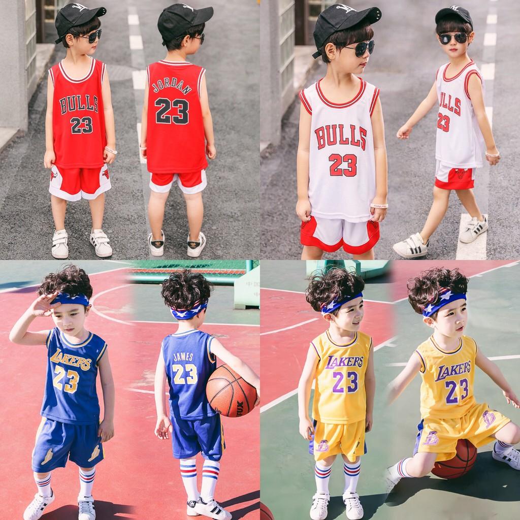 Bộ đồ bóng rổ trẻ em cho bé từ 7 đến 45kg Viki Fashions