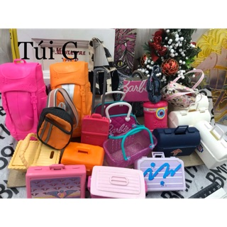 Túi xách ba lô búp bê Barbie chính hãng.