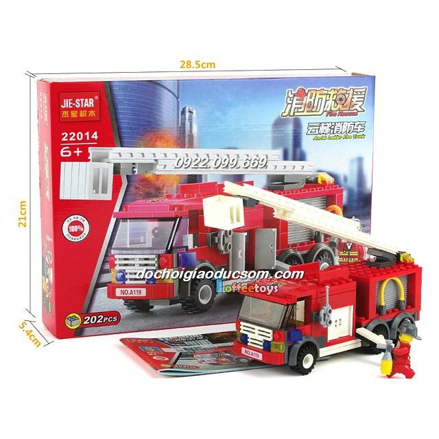 Bộ Lego xe cứu hỏa