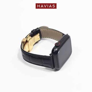Dây đồng hồ Apple Watch HAVIAS Lux8 - Dây Đen (Black)