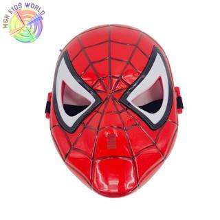 Mặt nạ người nhện SPIDER MAN có đèn, đồ chơi trẻ em lứa tuổi 3+ mặt nạ hóa trang, halloween, trang phục cosplay sp12