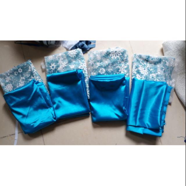 Set vải may váy elsa