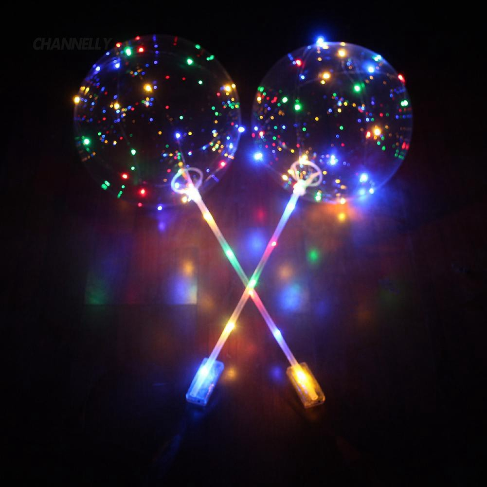 ■Cy Luminous LED Balloon Transparent Round Bubble Party Wedding Decoration
