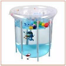 (Ưu đãi siêu rẻ)Cực tốt Set bể bơi siêu bền phao hình tròn kèm phao cổ, bơm chân cho bé sơ sinh