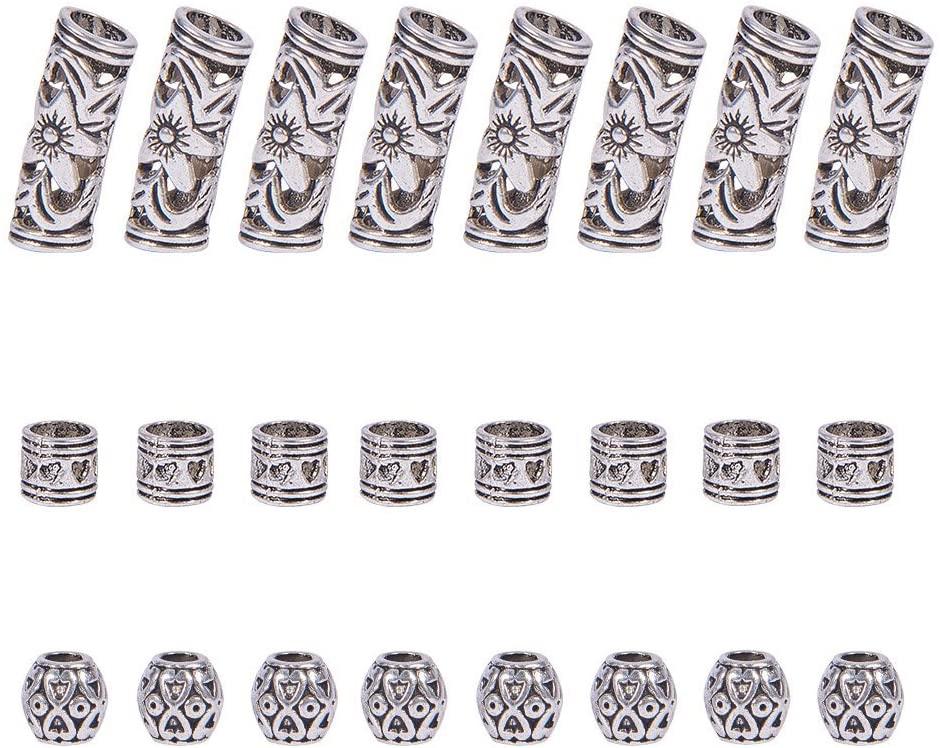 Set 60 Hạt Cườm Xỏ Lỗ 3 Kiểu Dáng Khác Nhau Dùng Để Trang Trí Tóc