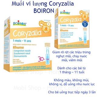 [Có Sẵn] Tép Muối Coryzalia Hộp 15 và 30 Ống Cho Bé Hay Bị Chảy Mũi Dẫn Đến Ho Có Đờm-Muối vi lượng Coryzalia