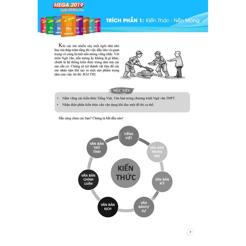 Sách - Mega Luyện Đề 2019 Tự Hào - 39 Đề Chinh Phục Kì Thi Thpt Quốc Gia Ngữ Văn