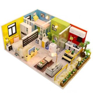 Kèm Mica – Mô hình nhà gỗ búp bê Dollhouse DIY – M043 Simple Life