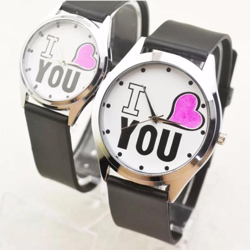 [Mã FAMAYFA2 giảm 10K đơn 50K] [GIÁ SỈ] ĐỒNG HỒ CẶP ĐÔI NAM NỮ DÂY DA I LOVE YOU CỰC ĐẸP