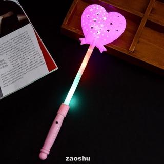 Luminous Magic Stick Light Up Flashing Heart Led Lighting Novelty Princess Wand Scepter Toy