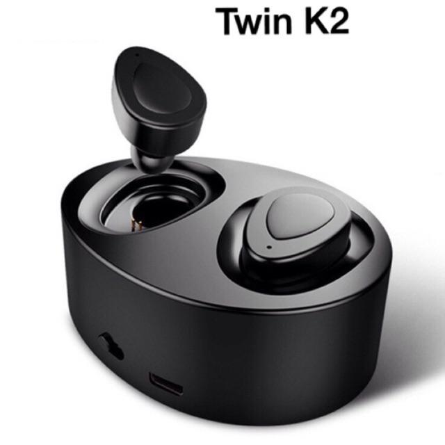 Tai nghe bluetooth Twin K2, Tws10 chất lượng cao,2 tai pin trâu kèm đốc sạc