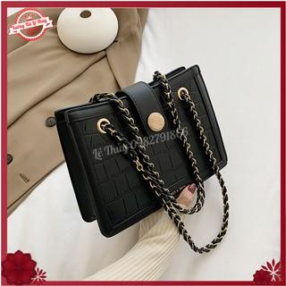 Túi đeo chéo, Túi xách nữ vuông đính đá phiên bản mới của Hàn Quốc Size 26 - Lê Thủy Bags