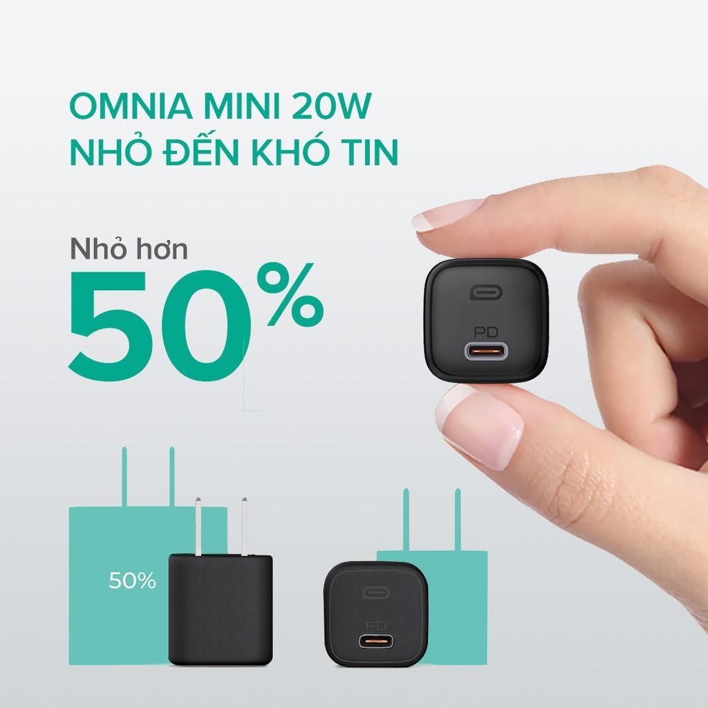 Combo Sạc Nhanh 20W iPhone AUKEY | Cốc Sạc 20W PA-B1, Cáp C-Lighnting 20W CB-CL1, Pin 15000mAh PD + QC3 PB-Y39