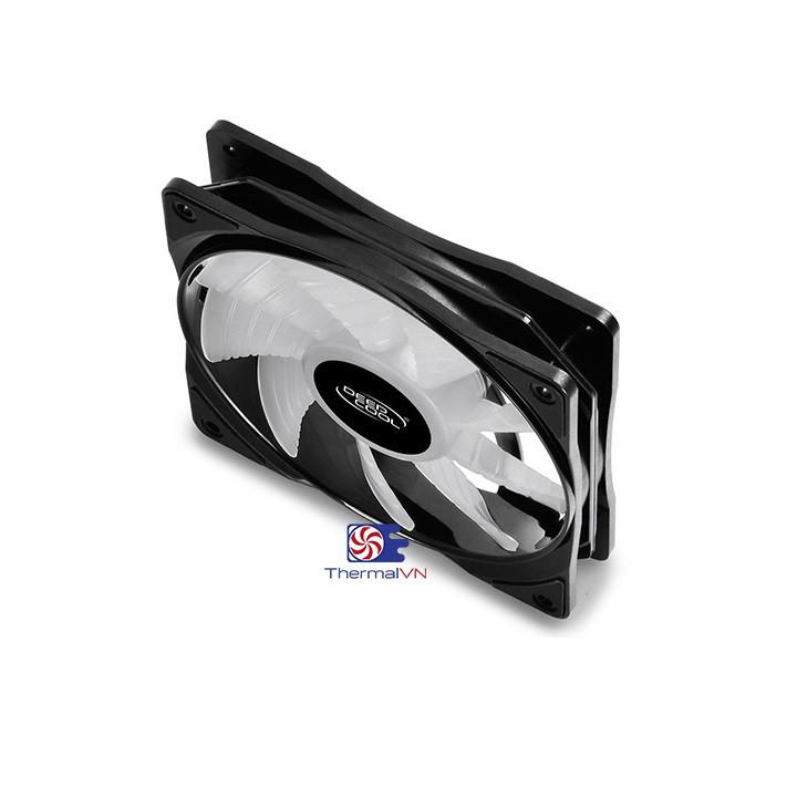 Quạt fan case 12cm RGB DeepCool RF 120M (bộ 3 quạt) - Quạt quay êm sức gió tốt, hiệu ứng màu sắc RGB 16,7 triệu màu