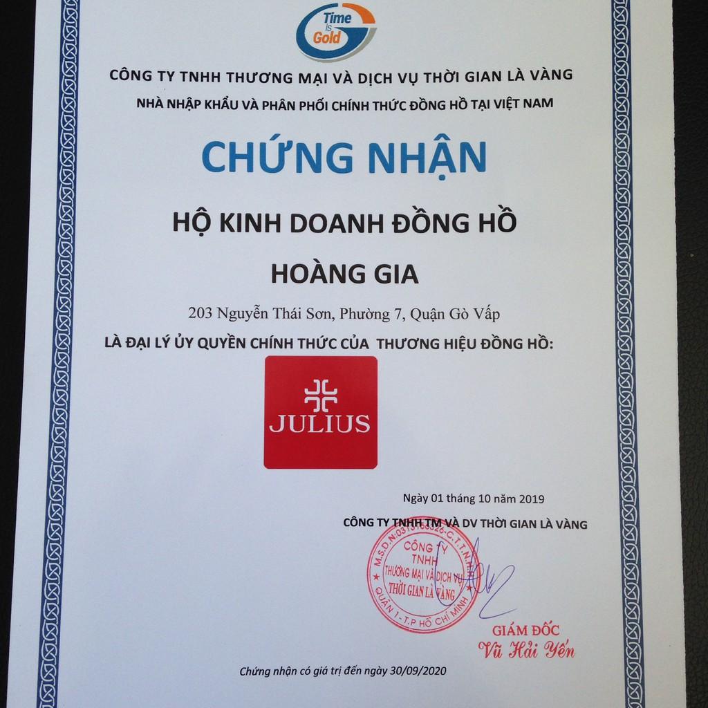 [CHÍNH HÃNG] Đồng Hồ Nữ JA-1241B JULIUS HÀN QUỐC Dây Thép (Xanh) - Bảo Hành 12 Tháng FULLBOX
