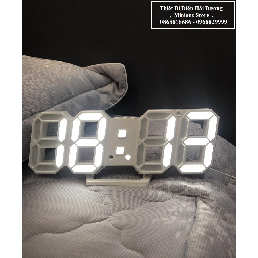 Đồng hồ LED 3D treo tường, để bàn thông minh TN828 Smart Clock - Bảo hành 18 tháng - Trang trí decor vintage căn phòng