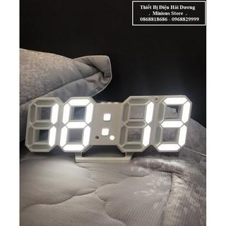 Đồng hồ LED 3D treo tường, để bàn thông minh TN828 Smart Clock – Bảo hành 18 tháng – Trang trí decor vintage căn phòng