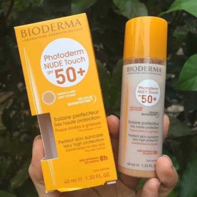 Kem chống nắng Vật Lý Bioderma photoderm nude touch spf 50+