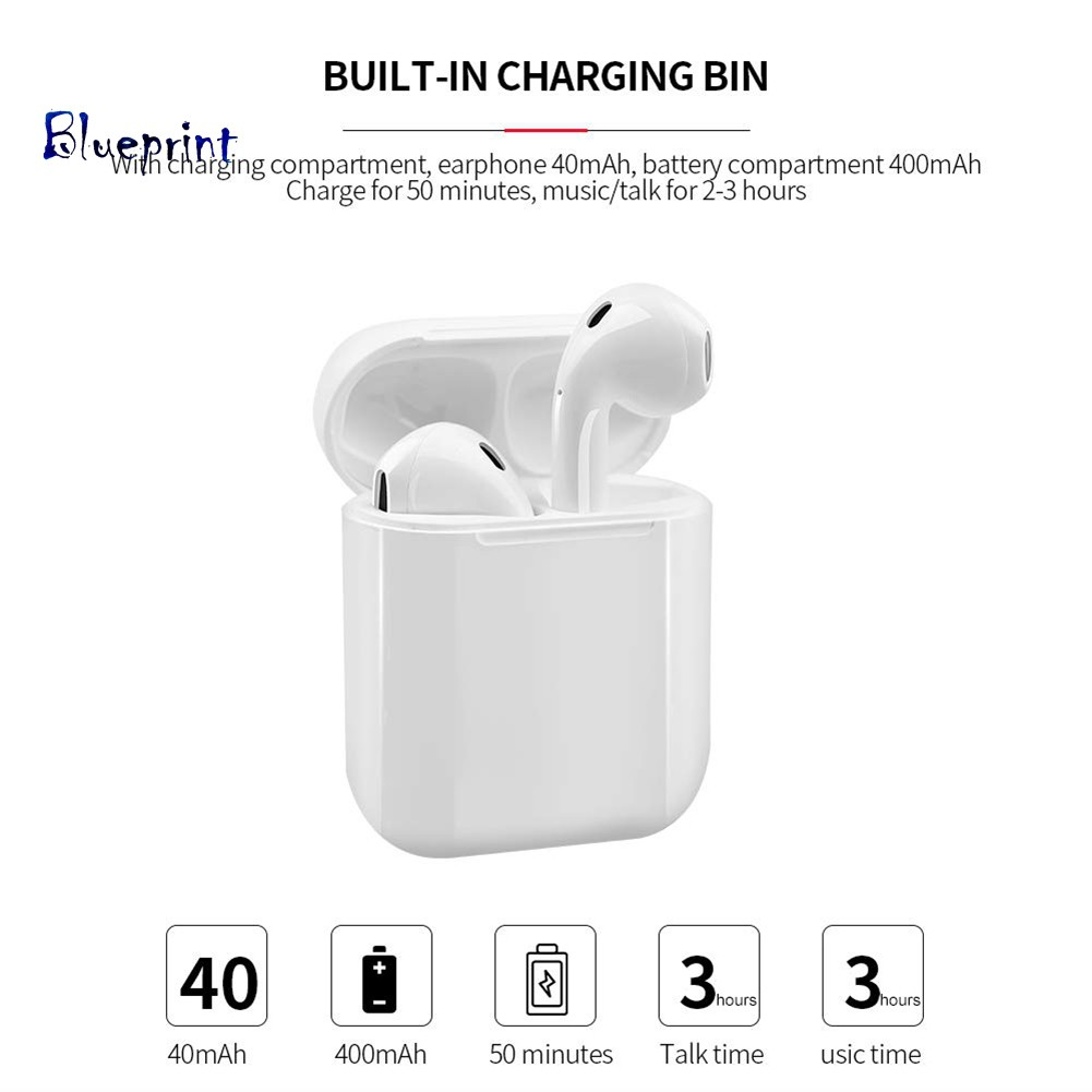 ☞BPSports Touch Control True Wireless Ear Buds Bluetooth Earphones with Charge Box