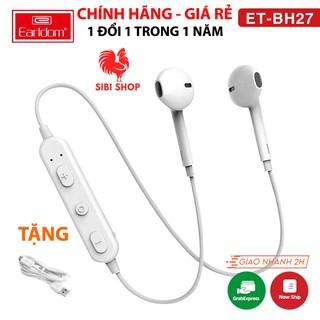 [BH 12 THÁNG] Tai Nghe Bluetooth Chính Hãng Earldom BH27 2 Tai Có Dây Âm Bass Cao và Âm Treble Sáng
