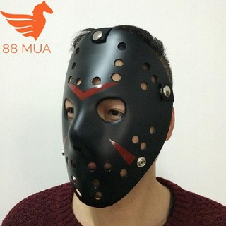 Mặt nạ Jason hóa trang Halloween leegoal Màu Đen Lỗ tròn _hàng bao đẹp