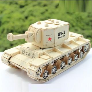 Mô hình lắp ráp gỗ 3D Xe tăng KV-2