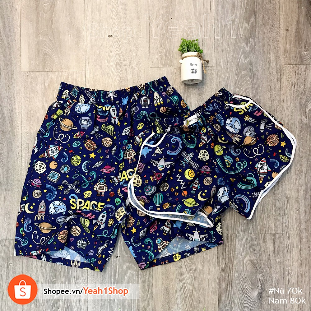 [Yeah1Shop]- Quần đôi đi biển Space (nam nữ)