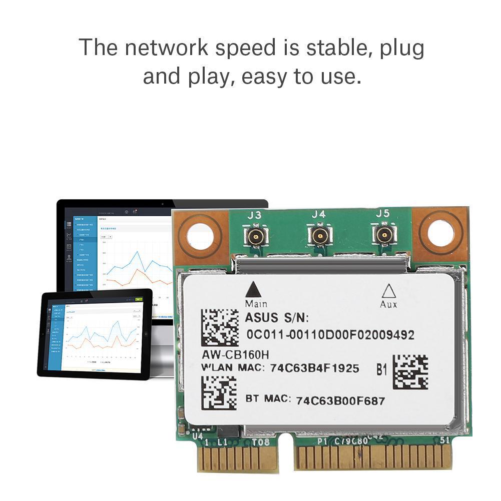 For Broadcom BCM94360HMB Azurewave AW-CB160H 1300Mbps 802 11