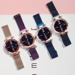 (Giá sỉ)Đồng hồ thời trang nữ dây lưới nam châm Huans SA10