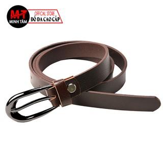 Thắt lưng nữ Minh Tâm da bò thật 100%MT334-06 , đen và nâu