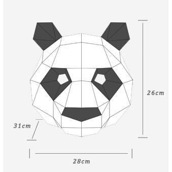 (có sẵn) MẶT NẠ GẤU TRÚC 3D DIY rẻ bèo nè