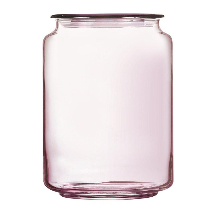 Hũ thủy tinh Rondo Ice Pink Luminarc 1L - L0365
