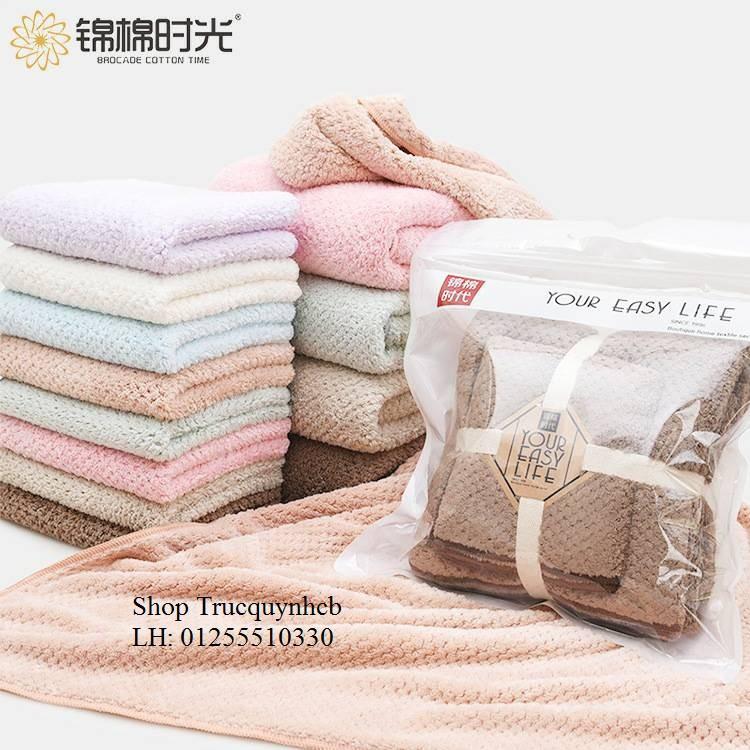 Set khăn tắm cao cấp YOUR EASY LIFE hàng xuất Nhật (70x140 - 30x80)