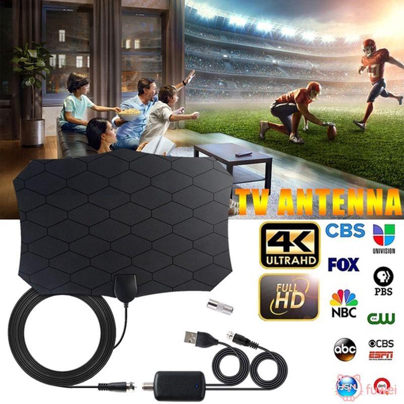 ♧ ราคาพิเศษ ♧ 240 Miles 1080P Digital HD TV  Mini Antenna With Amplifier Signal Booster TV Radius