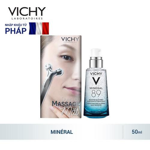 Tặng dụng cụ Massage mặt - Dưỡng Chất Khoáng Vichy Cô Đặc Dưỡng Ẩm Mineral 89 Serum 50ml