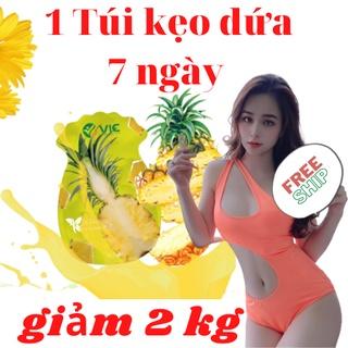 1 Túi Kẹo Dứa Giảm Cân VIC 7 ngày giảm cân nhanh 2-3 ký 7 viên 7 ngày thumbnail
