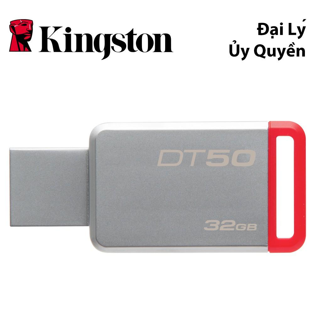 USB Kingston DataTraveler 50 32GB USB 3.1 (DT50/32GBFR) - HÃNG PHÂN PHỐI CHÍNH THỨC